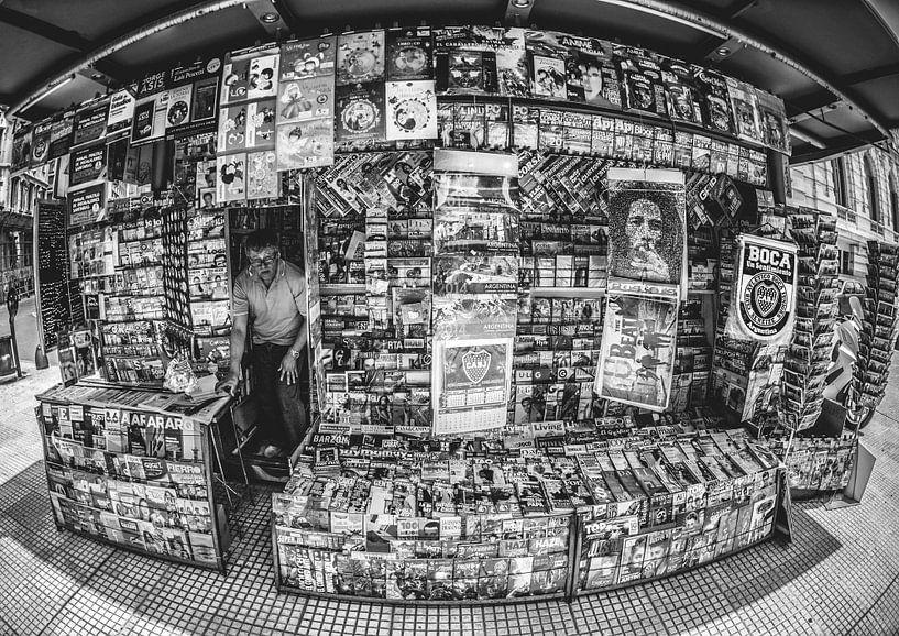 Kiosk in Buenos Aires van Ronne Vinkx