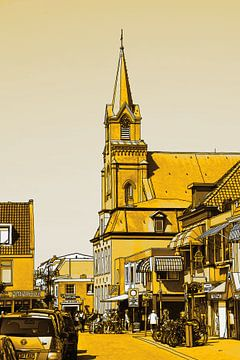 Sint Agnes Kerk Voorstraat Egmond aan Zee Pays-Bas Or sur Hendrik-Jan Kornelis