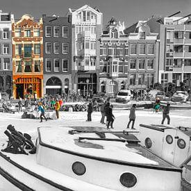 Amsterdam Winter Scene van Dalex Photography