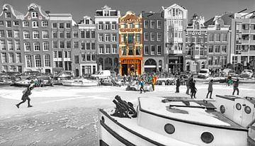 Amsterdam Scène d'hiver sur