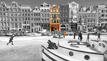 Amsterdam Winter Scene van