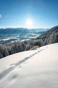 Winterse sfeer in de Allgäu van Leo Schindzielorz