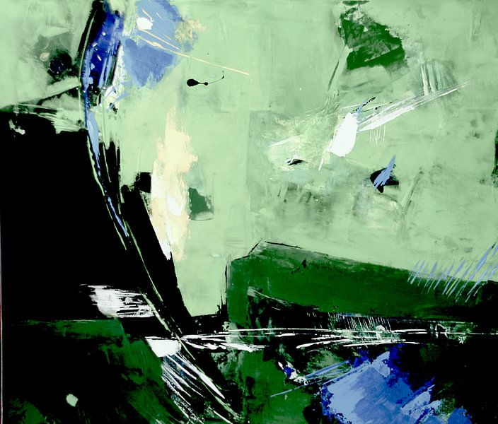 Composition en vert délicat sur Claudia Neubauer