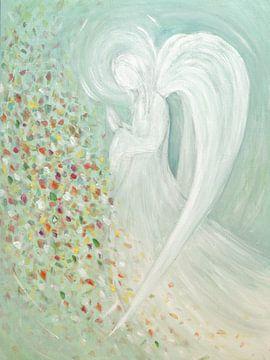 Engel beeld - engelen turkoois van Christine Nöhmeier