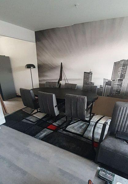 Klantfoto: Skyline van Rotterdam met de kop van zuid van eric van der eijk