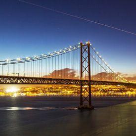 Lissabon op het blauwe uur van Frank Herrmann