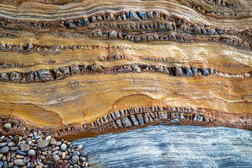 Ein Detail einer Felswand - Playa del Silencio - 4 von Danny Budts