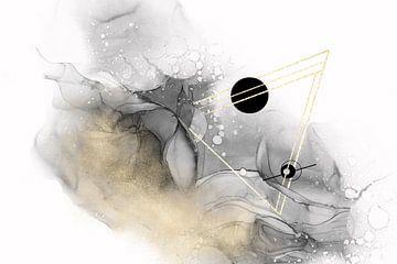 ALCOHOL INK Jenseits aller Galaxien Nr. 2 von Melanie Viola
