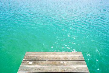 Turquoise water in het zwemmeer van Günter Albers