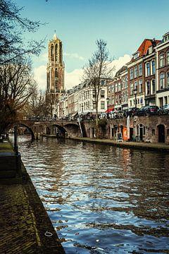 De Dom van Utrecht en de werven Oudegracht van De Utrechtse Grachten