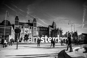 Rijksmuseum Amsterdam zwart-wit van