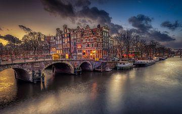 Amsterdam Sonnenuntergang von Michiel Buijse