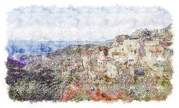 Le village espagnol de Polopos sur Art by Jeronimo