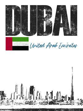Dubai Verenigde Arabische Emiraten van Printed Artings