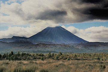 Landschap - Nieuw Zeeland - Mount Taranaki - Schilderij
