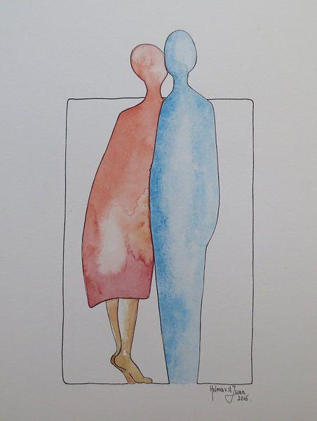 Hij en Zij, Kusje van Helma van der Zwan