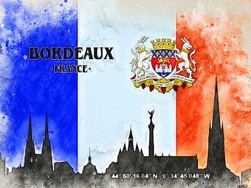 Bordeaux van Printed Artings