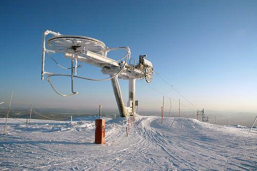 Bevroren Skilift in Noorwegen
