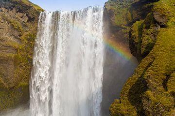 Skógafoss-Wasserfall Island von Coen Feron