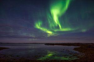 Noorderlicht vanaf de Lofoten eilanden, Noorwegen