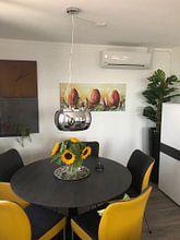 Kundenfoto: Tulpen Art von Gena Theheartofart, auf leinwand