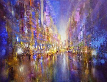 La ville bleue sur Annette Schmucker