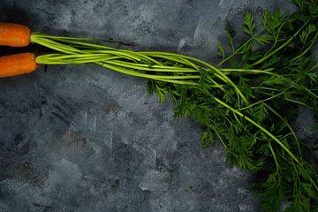 Twee wortels op een donkere achtergrond van Marjolijn Maljaars