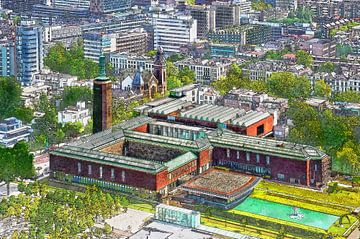 Rotterdam: Museum Boijmans von oben gesehen von Frans Blok