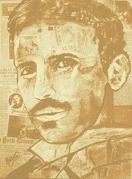 """Nikola Tesla """"Weinlese von Kathleen Artist Fine Art"""