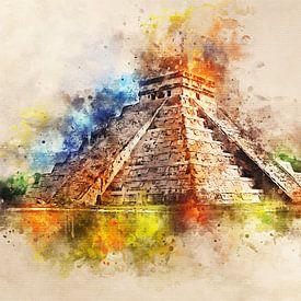 Chichén Itzá - Kukulcán van Sharon Harthoorn