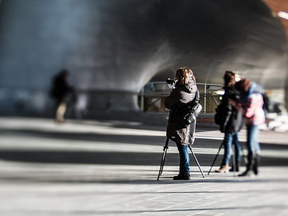 Photographers at work (Colour) van Lex Schulte
