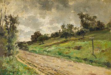 Carlos de Haes-Landstraßenlandschaft, Ackerlandschaft, Antike Landschaft