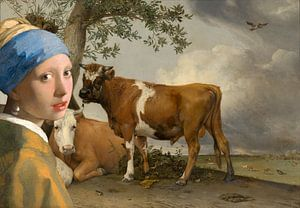 Mädchen mit dem Perlenohrring & der Stier