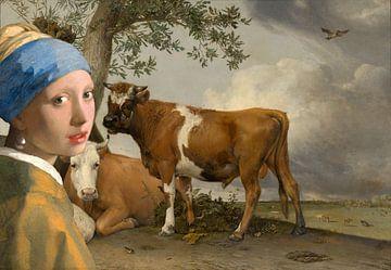 Meisje met de parel & de stier van Eigenwijze Fotografie