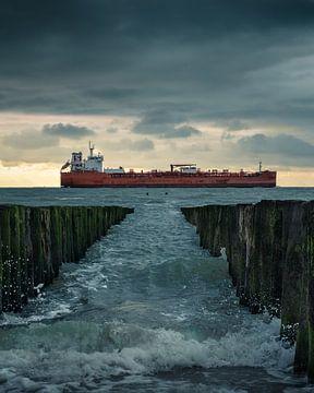 Nordseewellen tragen, drohen, nehmen, brechen von Willem Beesems