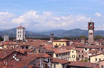 Uitzicht op Lucca italië van
