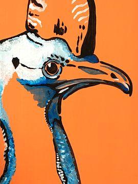 Kaschmir orange Hintergrund von Teun Poppelaars