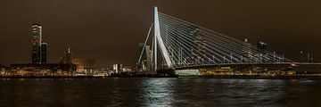 Erasmusbridge Rotterdam Panorama von Peter de Jong