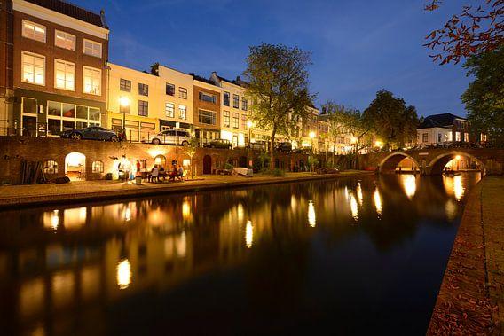 Oudegracht in Utrecht tussen Geertebrug en Vollersbrug