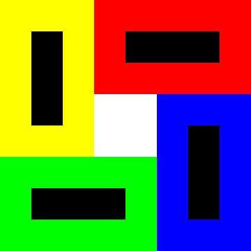 Permutatie | ID=08 | V=94 | Black+White Hole | P #01-WD van Gerhard Haberern