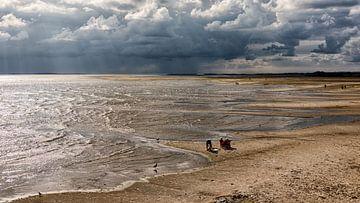 Zonnestralen over de Noordsvaarder  van Roel Ovinge