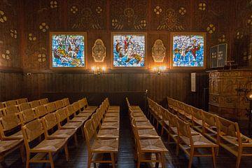 Noorse Zeemanskerk Binnenkant in Rotterdam van Charlene van Koesveld