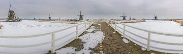 Panorama Winter kinderdijk von Jan Koppelaar