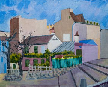 Lapin Agile Paris Frankreich von Antonie van Gelder Beeldend kunstenaar