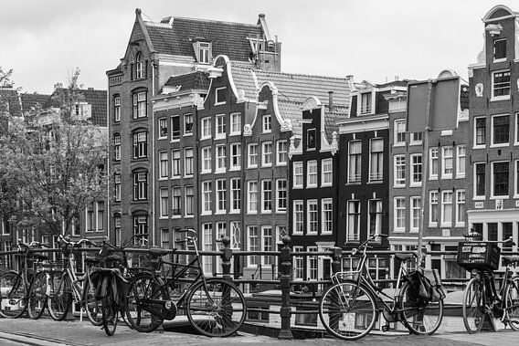Amsterdamse Grachtenhuizen in Zwart / Wit van ProPhoto Pictures