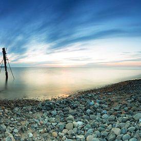 Abends am Strand auf Rügen von Frank Herrmann