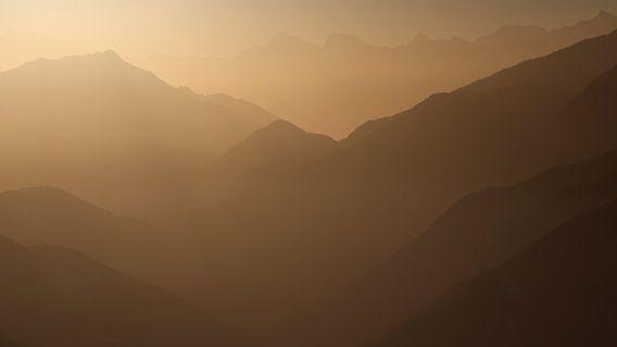 Sfeerfoto van de Walliser Alpen