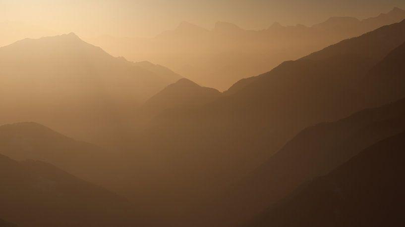 Sfeerfoto van de Walliser Alpen van Felina Photography