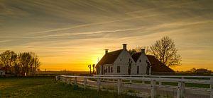 coucher de soleil Aduarderzijl sur wim van de bult