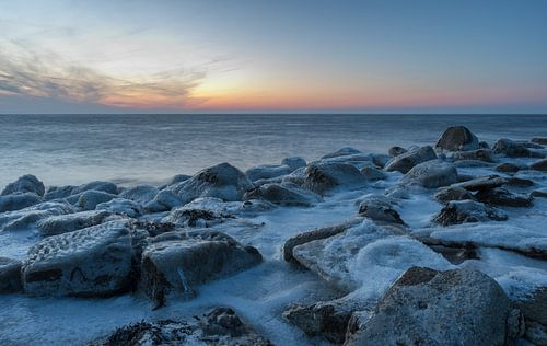 Roptazijl Friesland op 2 maart 2018 sunset